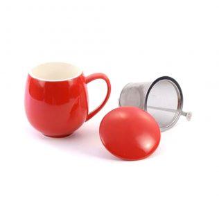 Red Sarah Tea Cup