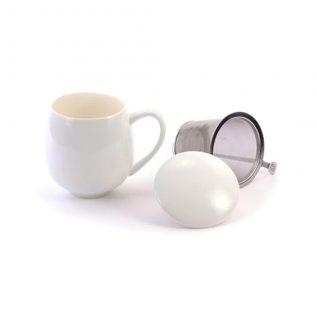 White Sarah Tea Cup