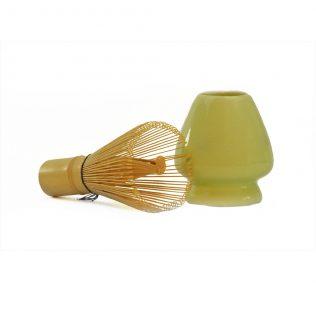 Matcha Whisk and Ceramic Holder