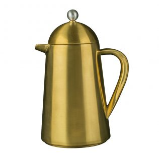 La Cafetière Brushed Gold Double Walled Thermique 8 Cup
