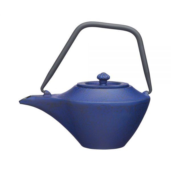 KitchenCraft Cast Iron Teapot Blue